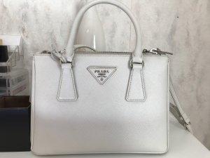 Prada Bolso blanco-gris claro Cuero