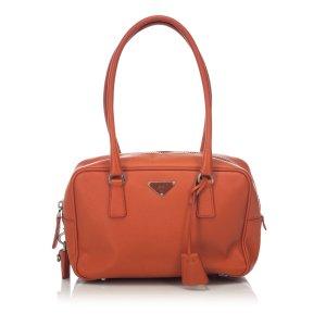 Prada Saffiano Lux Bowler Bag