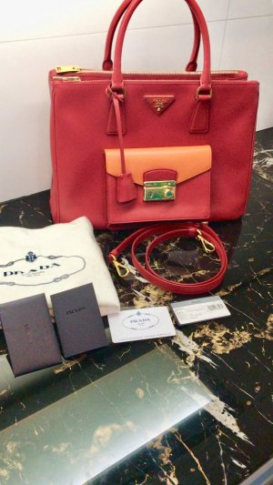 Prada Handbag brick red-salmon leather
