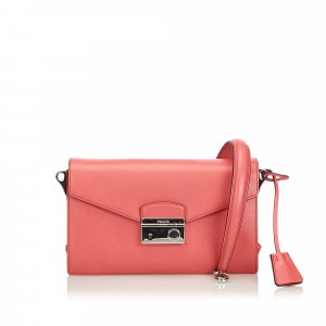 Prada Saffiano Mini Sound Crossbody Bag