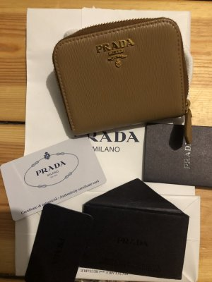 Prada saffiano purse wallet coin zippy Portemonnaie