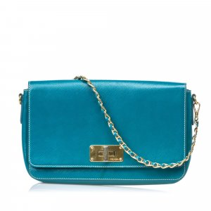 Prada Crossbody bag blue leather