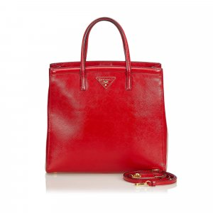 Prada Saffiano Vernice Leather Satchel