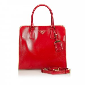 Prada Satchel red imitation leather