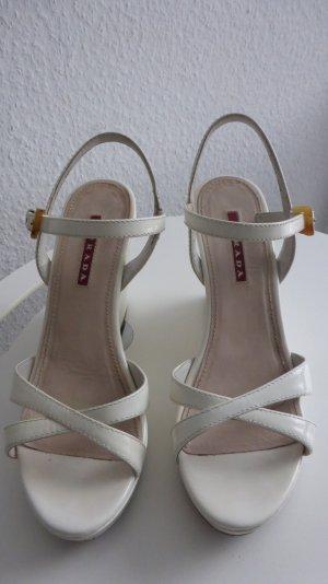 Prada Sandalias de tiras blanco Cuero