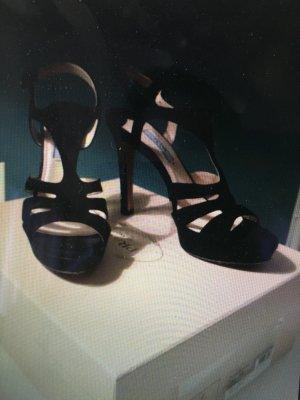 PRADA- Sandale aus Wildleder (camoscio), Farbe schwarz, Größe 36,5