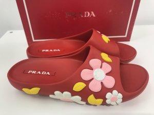 Prada Sandalias rojo