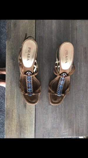 Prada Strapped Sandals brown-light brown