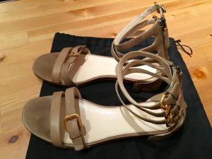 Prada Sandale Leder Farbe hell grau, bej