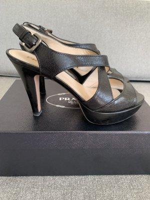 Prada Sandalo con plateau nero