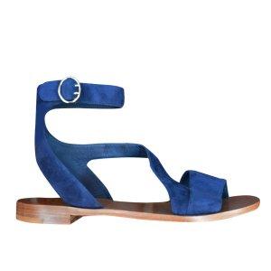 Prada Sandales bleu daim
