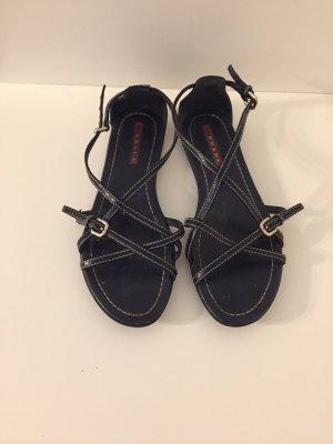 Prada Sandalo con cinturino blu scuro-argento