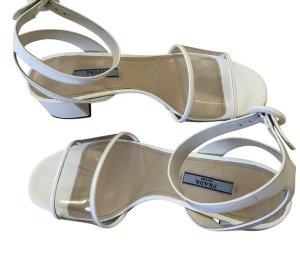 Prada Sandalo con cinturino bianco Pelle