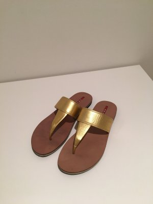Prada Sandalo infradito oro-marrone chiaro
