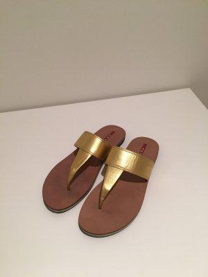 Prada Sandalen Leder Gold