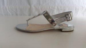 Prada, Sandalen, Leder, silber (argento), 37, neu,  € 600,-