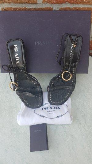 Prada High-Heeled Sandals black