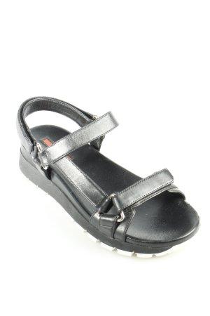 Prada Sandalen schwarz-weiß Casual-Look