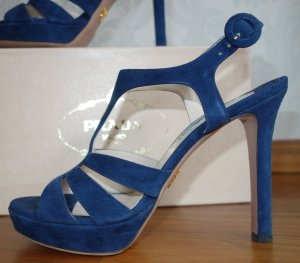 Prada Sandals blue leather