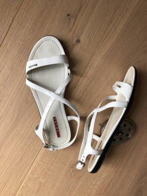 Prada Strapped Sandals white-black