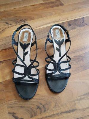 Prada Sandalias de tacón de tiras negro