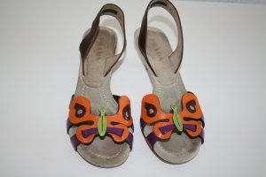 Prada Sandalette mit Kittenheel, Schmetterling, Gr.36