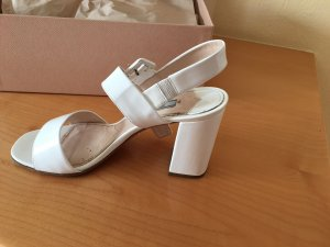 Prada High Heel Sandal white leather