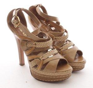 Prada Platform High-Heeled Sandal multicolored leather