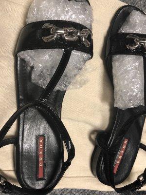 PRADA Sandaletten, schwarz