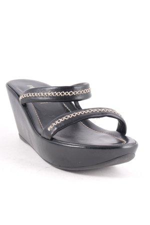 Prada High-Heeled Sandals black-beige classic style