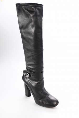 Prada Schaftstiefel schwarz Eleganz-Look