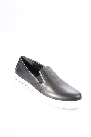"""Prada Schlüpfsneaker """"Rhinestone Slip On Nero/Bianco 39"""" schwarz"""
