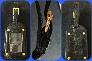 Prada  Schlüsselanhänger , Kofferanhänger oder Taschenanhänger Lackleder Schwarz