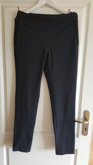 Prada Stretch broek donkerblauw-framboosrood Nylon