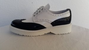 Prada Lace Shoes white-dark blue leather