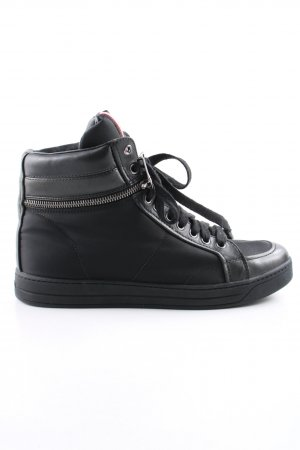 "Prada Lace-Up Sneaker ""Nylon + Nappa Nero"" black"