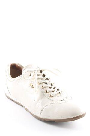 Prada Sneaker stringata crema stile casual