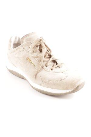 Prada Sneakers met veters licht beige-wit casual uitstraling