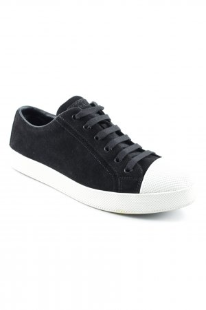 Prada Lace-Up Sneaker black casual look