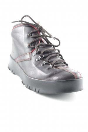 Prada Aanrijg laarzen donkerbruin-donkerrood simpele stijl