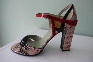 PRADA Schuhe, Gr. 40, Sandalen, aus rosa Schlangenleder, mit Schmucksteinchen besetzt. Super edel !!
