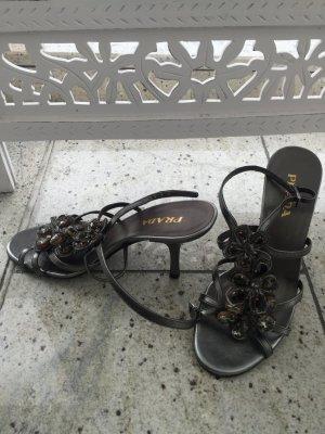 Prada Schuhe in grau/schwarz mit Steinen