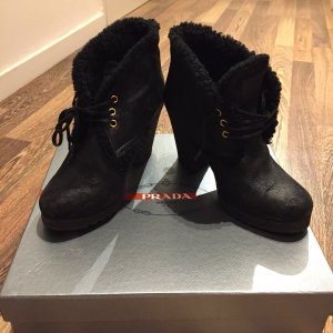 Prada Fur Boots black