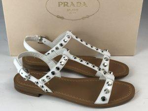 Prada Sandals white leather