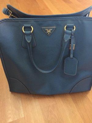 PRADA Schulter- und Handtasche kobaltblau mit Echtheitszertifikat