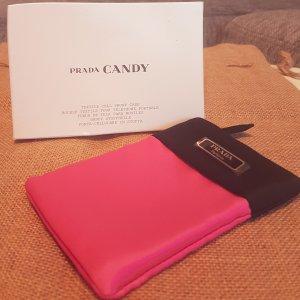 Prada schwarz-pink goldene Handytasche/ -hülle, mit Box, NEU