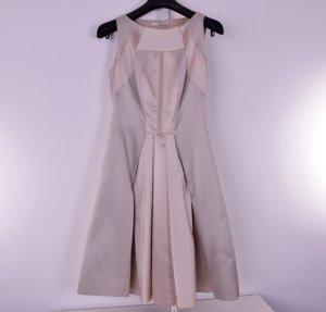 Prada Seide & Schurwolle Kleid Beige Gr. 34 IT 40