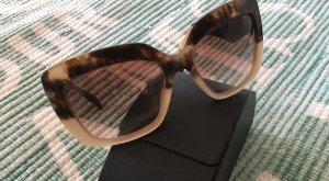 Prada Angular Shaped Sunglasses light brown-camel