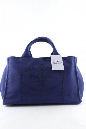 "Prada Shopper ""Canapa Shopping Bag Bluette"" bleu foncé"