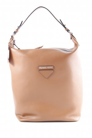 "Prada Shopper ""Etiquette Hobo Bag Leather Cognac"" cognac-coloured"
